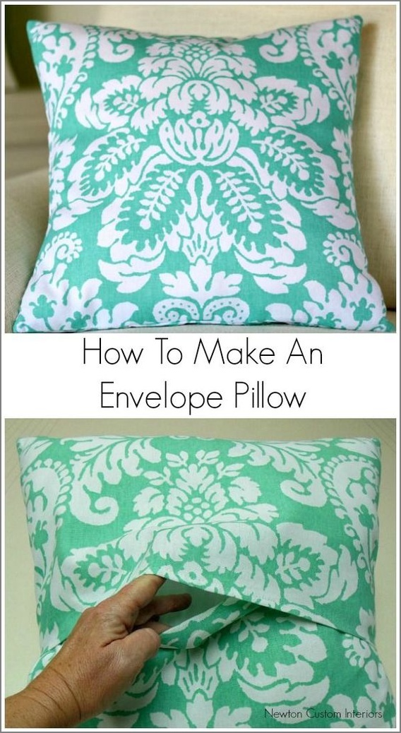 Make an Envelope Style PIllow Cover