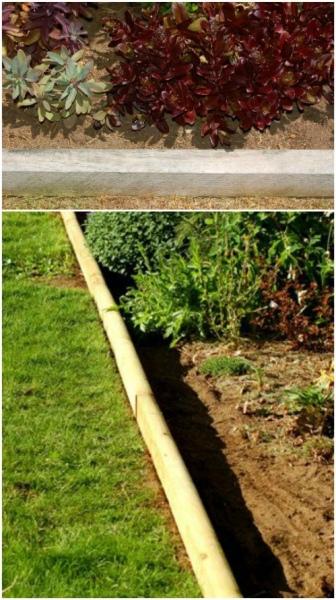 Distinctive DIY Garden Edging Using Pressure Treated Landscaping Timbers