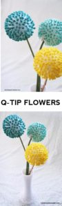 37 Anthropologies Inspired DIY QTip Flowers Made of over a Styrofoam Ball with Different Food Co ...
