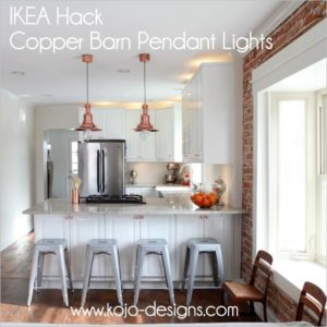 33 Beautiful IKEA Hack Copper Barn Pendant Lights for KitchenAttached Dining Area