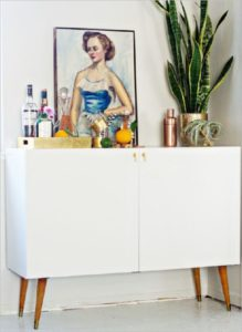 36 Classis MidCentury Bar Cabinet as DIY IKEA Project to Make your Kitchen Stuff Hidden Sophisti ...