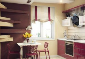 16 Classy Kitchen Window Curtain Design in Roman Styling with Darker Fabric Holds on Subtle Full ...