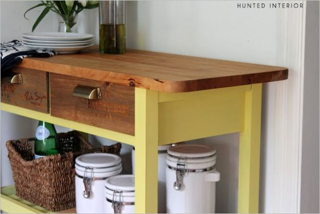 4 Classy Wine Crate DIY IKEA hack with Drawer Fronts and a Large UndertheDrawer Storage Shelf