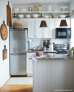 13 Clever Kitchen Arrangement with OvertheCabinet Row of Shelving which is Beautifully Balanced  ...