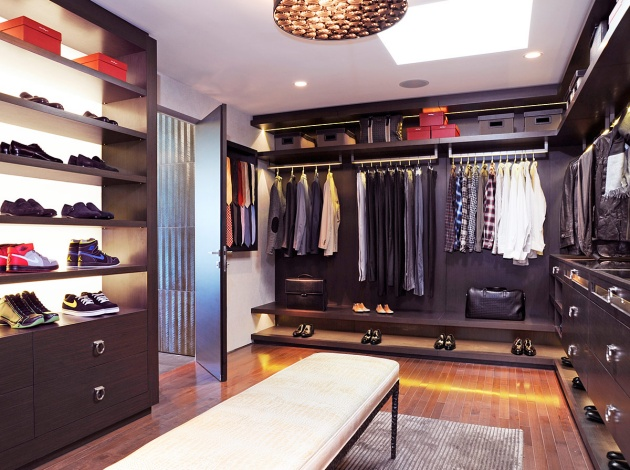 11 Contemporary Closet Organization for Men with Huge Storage Space