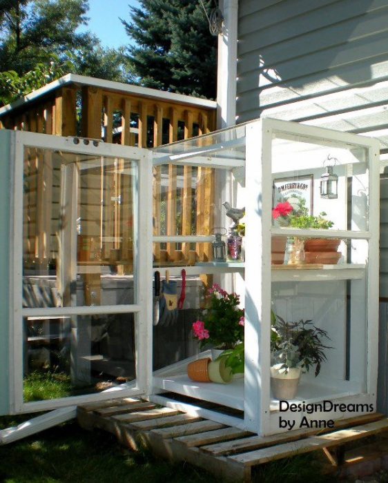 1 DIY Baby Green House Project for Small Backyard Areas