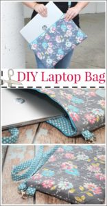 34 DIY BacktoSchool Laptop Bag with Thick FabricMade Protection Layer and Hanging String and Zipper