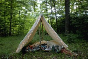 1 DIY Camping Tent from Old Fabric with Lighting