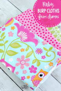 Easy Sewing Projects: DIY Cute Baby Burp Cloths from Diapers