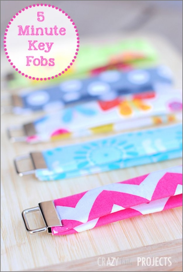 19 Diy Fabric Key Fobs As The Easy 5 Minute Sewing Craft To Make And