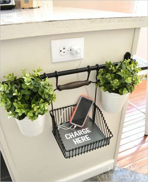 3 DIY IKEA Charging Station Hanging on Vertical Planter Holder to Keep your Countertop Unclutter ...