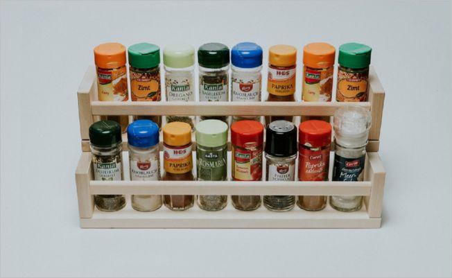 18 DIY Kitchen Spice Organizer from TwoShelf IKEA Racks for a Notoriousfree Kitchen Counter