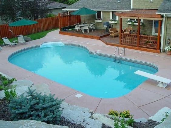 8 DIY Petite Pool Idea beside Beautiful Wooden Patio