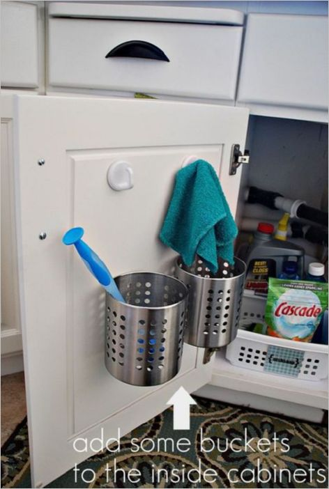 7 DIY Wrangle Tin Cans as Spatula Holder for Inside the Cabin Storage Basket Set on UndertheCoun ...
