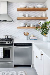 24 Easy and Cheap Reclaimed Wood Shelving for Kitchen Utensils to Brighten up the Small Cooking Area