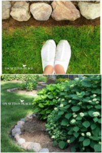 15 Easy OneDay DIY Garden Edging Pattern with Natural Rocks in Circular Motion