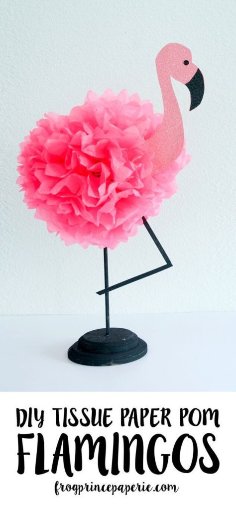 23 EasytoCraft DIY Tissue Paper Pom Flamingo as an EyePopping Art Project for your Room