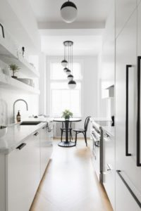 19 Elegant Colored Kitchen Dcor with Pale Whitish Palette along with a Classy Black Touch for Na ...
