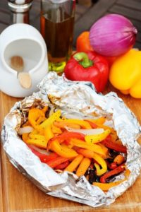 6 Foil Packed Grilled Vegetables as Camping Food