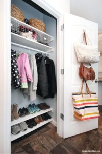 Hook the Handbags on the inner side of Closet Door