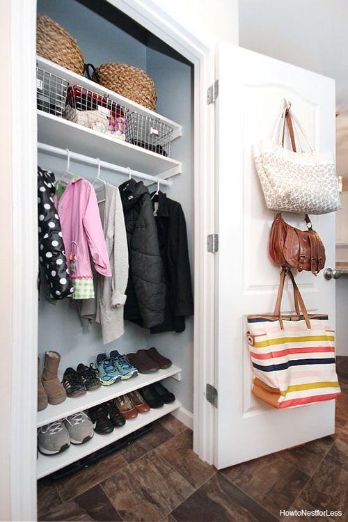 Hook the Handbags on the inner side of Closet Door