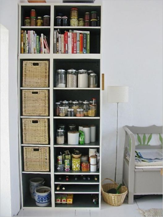 2 Hugely Extended Dramatic DIY IKEA Kitchen Cabinet with Open Shelving Style