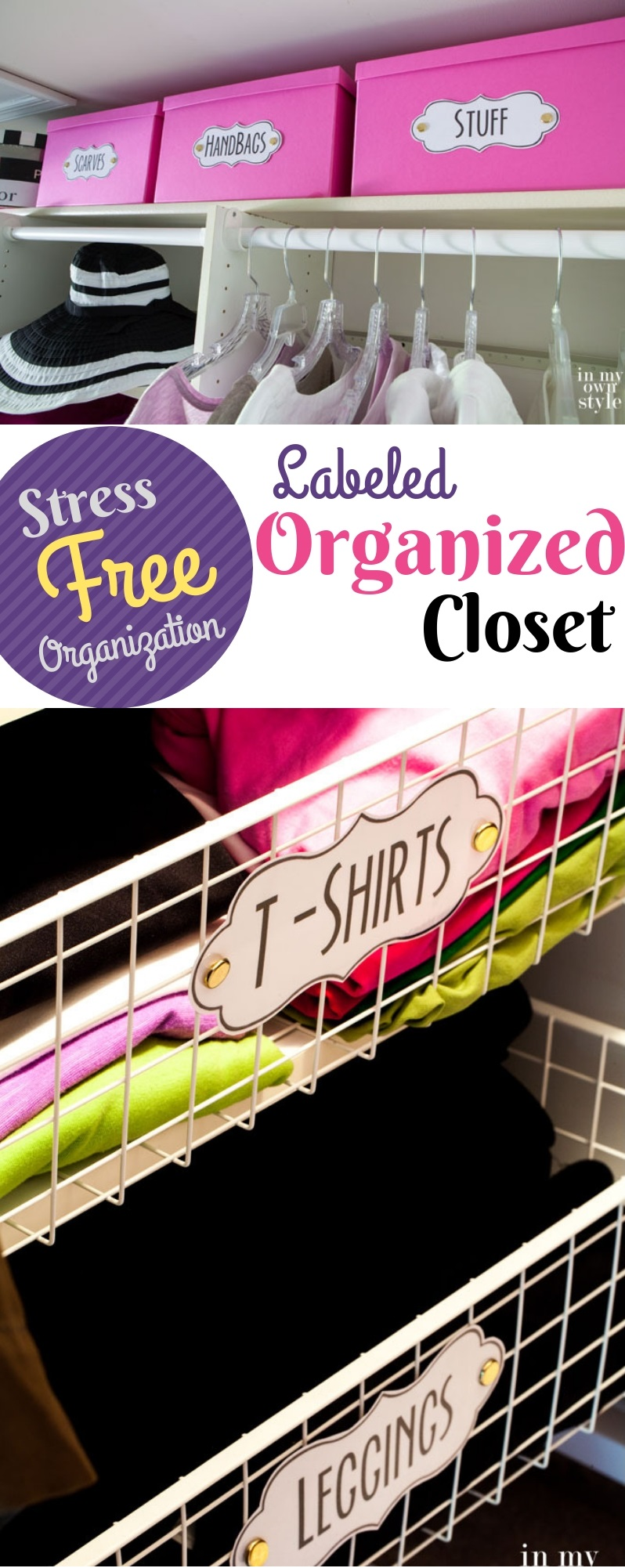 Labeled Organized Closet Storage Ideas: Stress-Free Crisp and Clear Labeled Closet