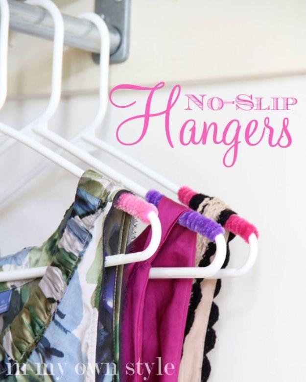 18 Neat Closet Arrangement with NoSlip Hangers for Your Clothes