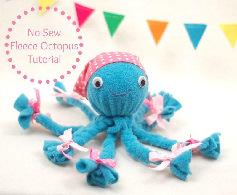 DIY Baby Toys/ Stuff: No-Sew Fleece Octopus Tutorial