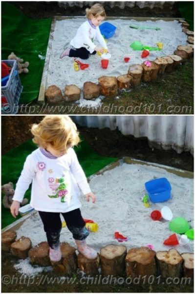 9 Plain DIY Garden Edging for Playing Domain with Rustic Wooden Logs