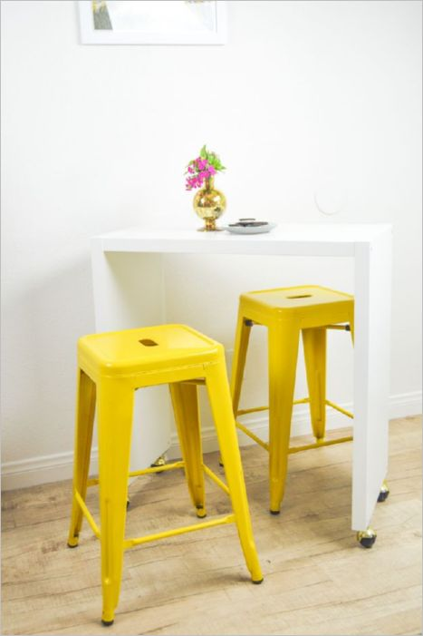 40 Plain IKEA Hack as DIY Rolling Kitchen Island Bar with Smooth and Pretty Countertop Area