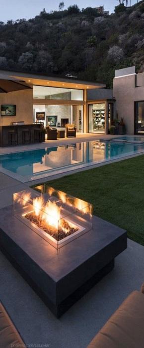 2 Plain Rectangular DIY Swimming Pool with Concrete Enclosing