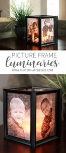 38 Pretty and Brilliant DIY Picture Frame Cube cum Candleholder as the Best Dollar Store Project