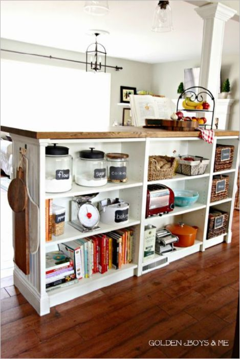11 Repurposed Kitchen Cabinet from Old IKEA Billy Bookcase with a Storage Space for your Utmost  ...