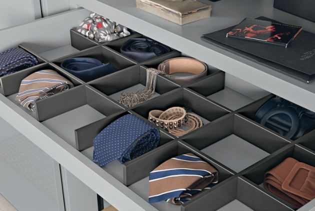13 RollOut Storage Solution with Pull Out Drawer Patterned Closet with Various Divisions