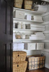 33 Rustic Cane Made Storage Bins as Closet Organizer with Lock System
