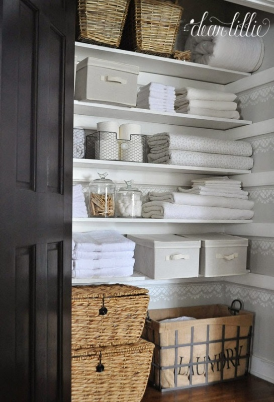 33 Rustic Cane Made Storage Bins As Closet Organizer With Lock System