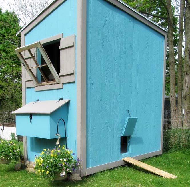 Shed Like Chicken Coop: 8×4 Chicken Coop Design