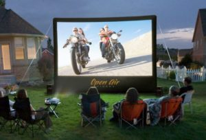 9 SheetBased Outdoor Movie Screen for own Backyard Camping