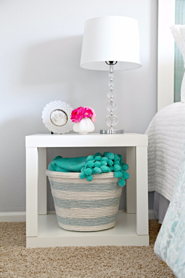 29 Simple and Functional DIY Rope Basket for an UndertheShelf Storage to keep your Place Organized