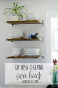 31 Simple DIY OpenShelving IKEA Hacks Set inside Sturdy Steel Holder for an EasyStorage for your ...