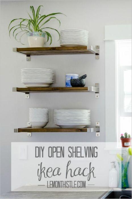 31 Simple DIY OpenShelving IKEA Hacks Set inside Sturdy Steel Holder for an EasyStorage for your ...