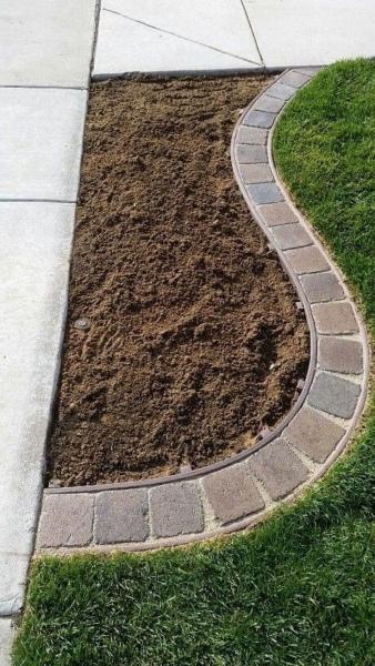 29 Simple yet Professional Garden Edging with Stone Brick Corner Edge