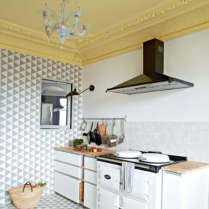 15 Sophisticated Gallery Style Kitchen Decorated with Chandelier and Designed with Streamlined C ...