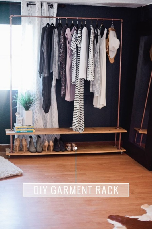 4 Super Chic Closet Organization with Rolling Garment Rack with Racks for the Quick Access
