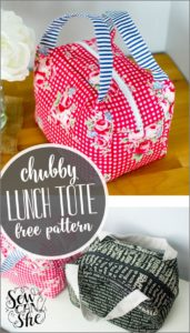36 Super Chic DIY Perfect Lunch Tote Bag with Vibrant Print as Free Pattern Fabric Project