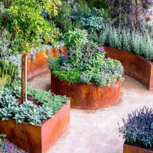 24 Super Sturdy Bronze Raised Garden Edge Design with Patina Effect