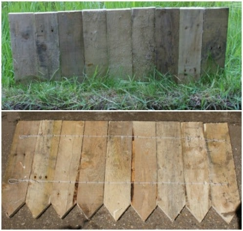 30 Traditional Garden Landscaping with DIY PalletMade Fence Edging