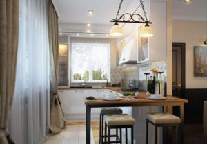 24 Two Layered Kitchen Window Curtain in Embellished Drapes in Contrasting Dark and Light Shade  ...