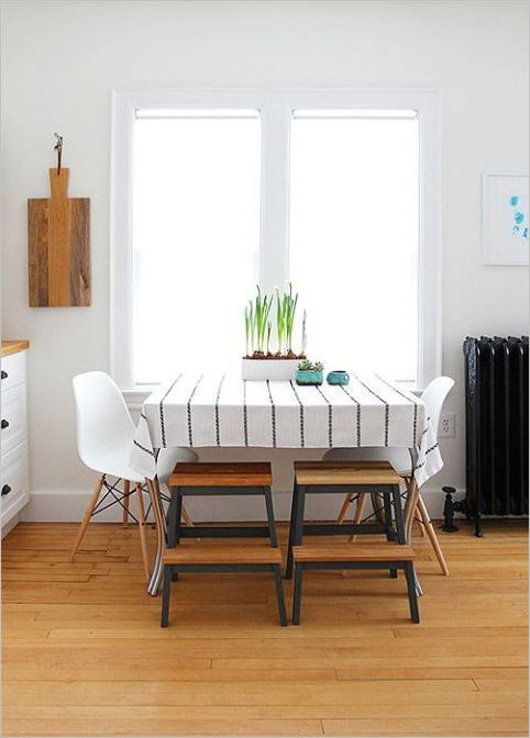 15 UndertheTable Stepstools with IKEA Board to Keep your Dining Area Free from Clunky Chair Sets